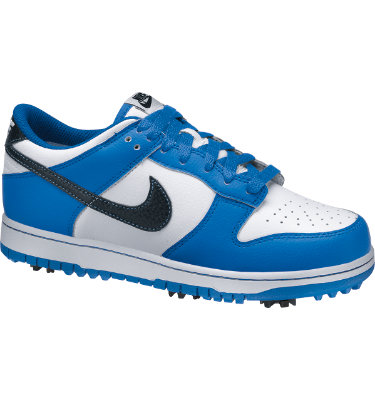 Nike Junior's Dunk NG Golf Shoe - White/Black/Soar