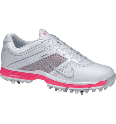 Nike Women's Lunar Links Golf Shoe - White/Pink/Metallic Silver