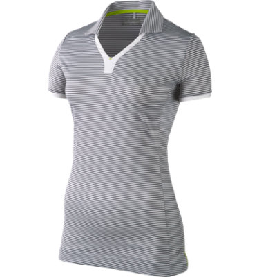 Nike Women's Graphic Mini Stripe Short Sleeve Polo