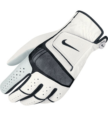Nike Men's Tech Xtreme Golf Glove - White/Black