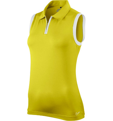 Nike Women's Zip-Neck Sleeveless Polo