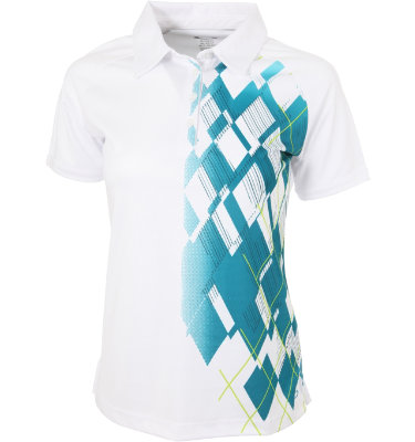 Oakley Women's Nordic Pattern Short Sleeve Polo