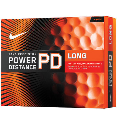 Nike Power Distance Orange Golf Balls - 12 pack (Personalized)
