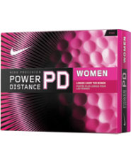Nike Power Distance Pink Golf Balls - 12 pack (Personalized)