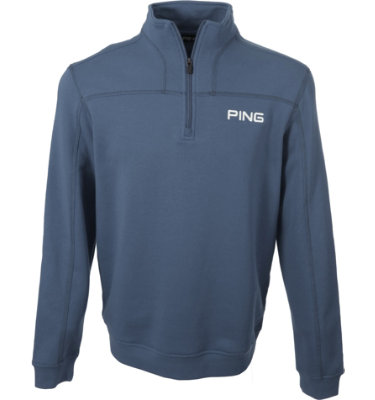 PING Men's ¼ Zip Fleece Long Sleeve Pullover