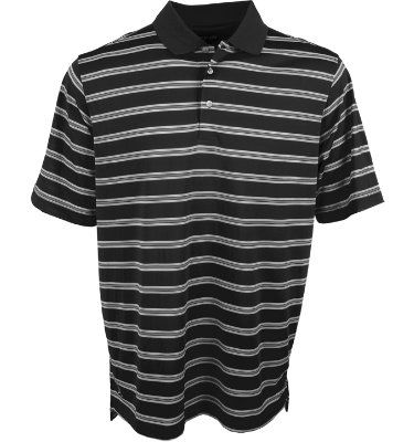 PING Men's Muni Stripe Short Sleeve Polo