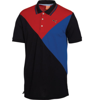 PUMA Men's Colorblock Short Sleeve Polo