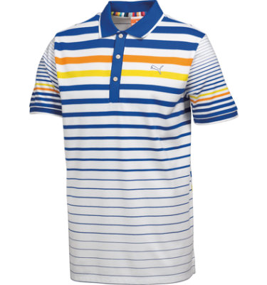 PUMA Juniors' Golf Stripe Short Sleeve Polo