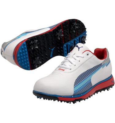 PUMA Men's Faas Trac Golf Shoe - White/Blue/Red