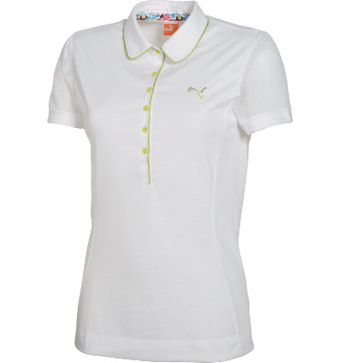 PUMA Women's Novelty Sleeve Golf Polo Short Sleeve Shirt