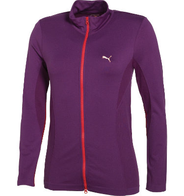 PUMA Women's Seamless Golf Track Long Sleeve Jacket
