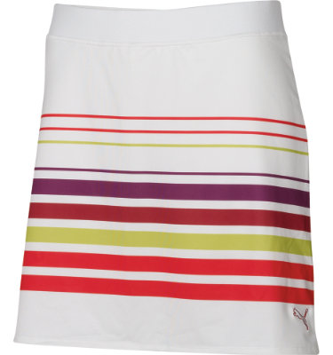 PUMA Women's Striped Knit Golf Skort