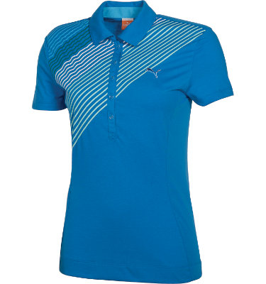PUMA Women's Bias Stripe Short Sleeve Polo