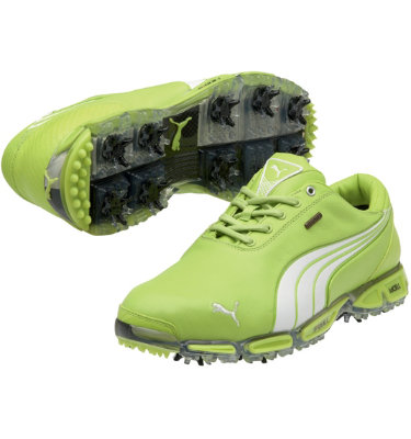 PUMA Men's Super Cell Fusion Ice LE Golf Shoe - Lime Punch/White