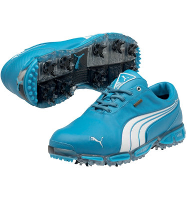 PUMA Men's Super Cell Fusion Ice LE Golf Shoe - Vivid Blue/White