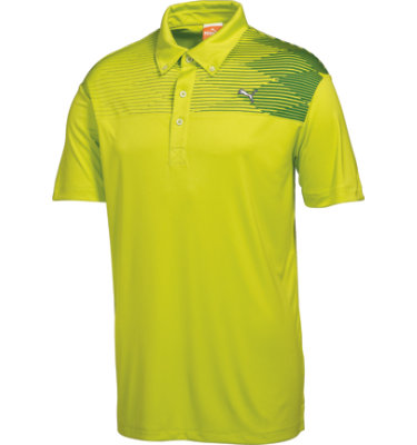 PUMA Men's Argyle Tech Short Sleeve Polo