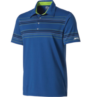 Slazenger Men's Mosback Striped Short Sleeve Polo