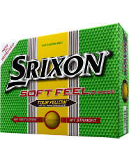 Srixon Soft Feel Yellow Golf Balls - 12 pack