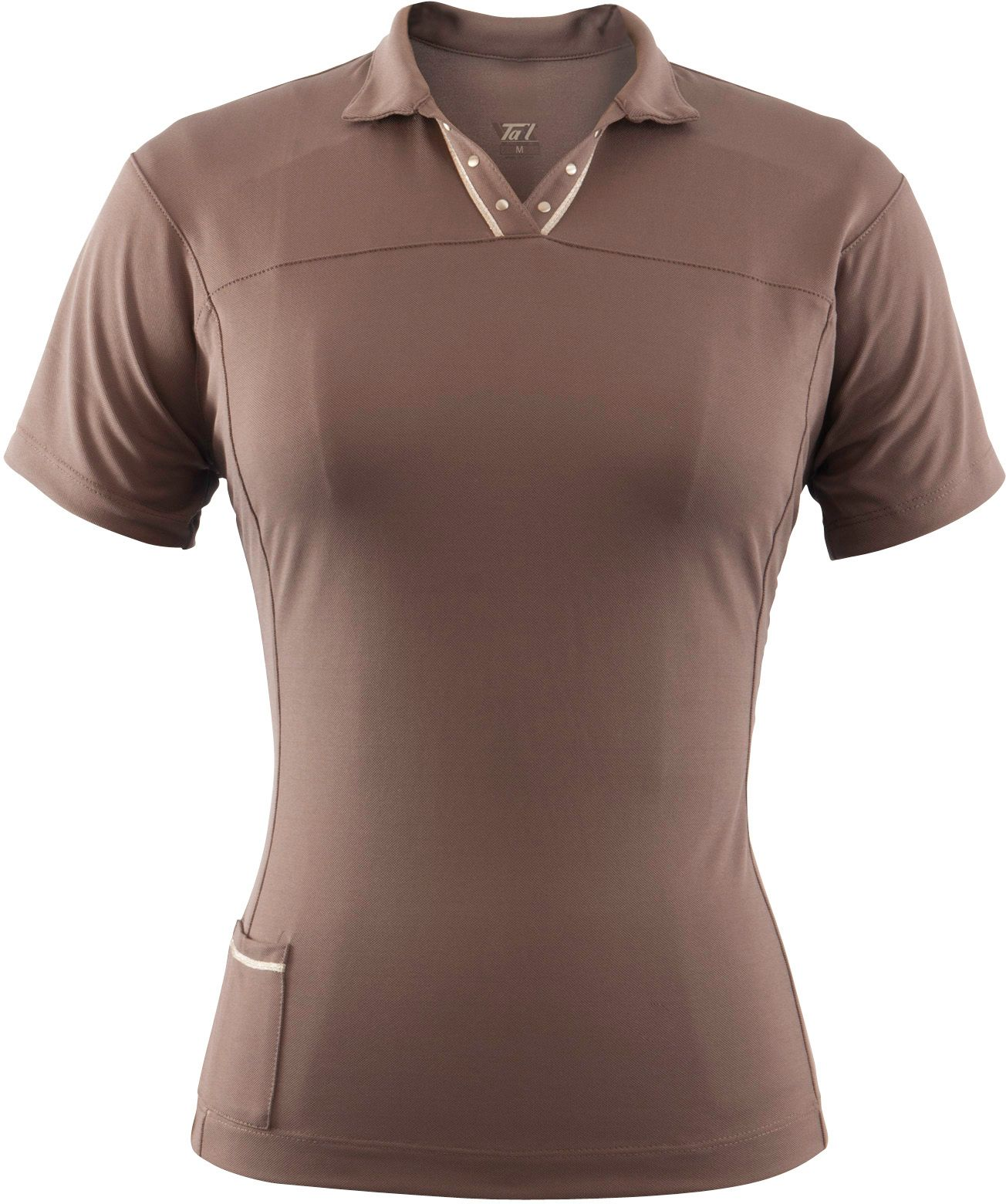 Tail Activewear Women's Forever Taupe Short Sleeve Mock Neck
