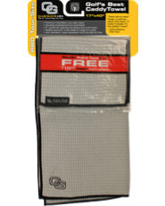 Club Glove USA Microfiber Caddy Towel - Cool Grey