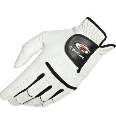 Top Flite Men's XL Golf Glove -White/Black