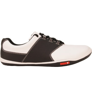 TRUE linkswear Men's tour Golf Shoe - White/Black