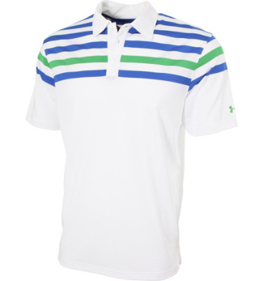 Under Armour Men's Thin Shoulder Stripe Short Sleeve Polo