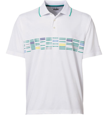 Walter Hagen Men's Maclay Chest Print Short Sleeve Polo