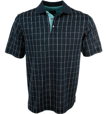 Walter Hagen Men's Windowpane Short Sleeve Polo