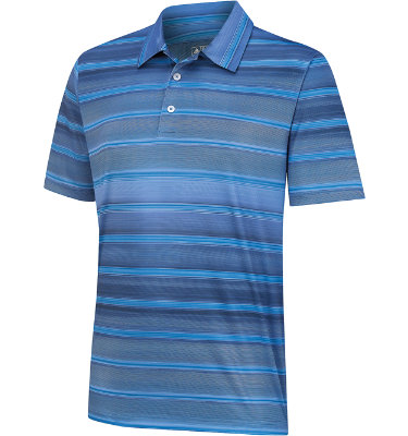 adidas Men's ClimaCool Gradient Stripe Short Sleeve Polo