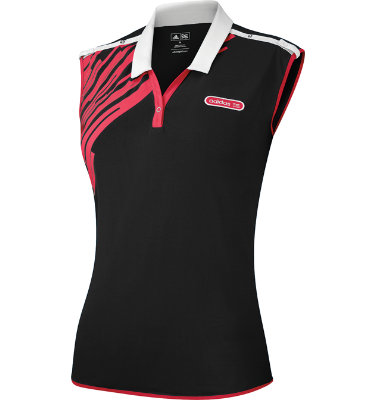 adidas Women's Fashion Performance Convertible Printed Kimono Sleeveless Polo