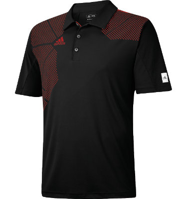 adidas Men's ClimaCool Printed Mesh Block Short Sleeve Polo