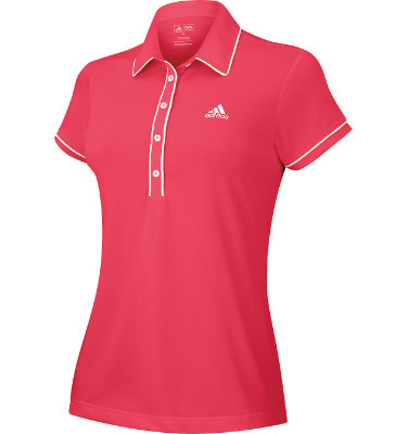 adidas Women's Fashion Performance Short Sleeve Basic Polo