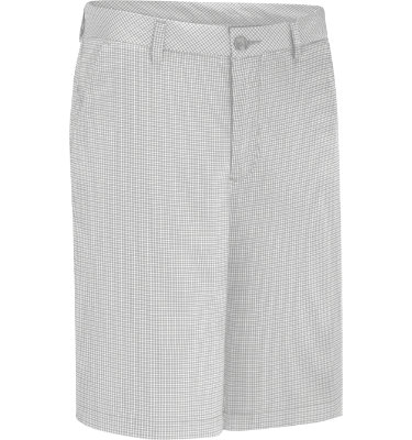 Ashworth Men's Microfiber Mini Check Flat Front Short