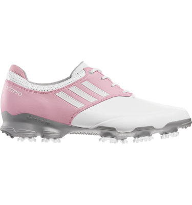 adidas Men's adizero Tour Golf Shoe - White/Pink
