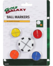 Golf Galaxy 4 Ball Markers with Poker Chip Set