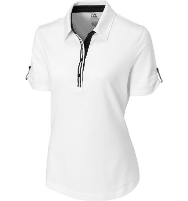 Cutter & Buck Women's Pertinent Short Sleeve Polo