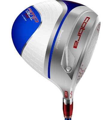 Cobra Men's AMP CELL Driver - Limited Edition White/Blue/Red