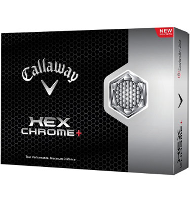 Callaway HEX Chrome+ Golf Balls - 12 Pack