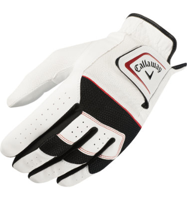 Callaway Men's X Hot Golf Glove - White/Black