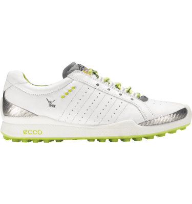 ECCO Women's BIOM Hybrid Sport Golf Shoe - White/Lime