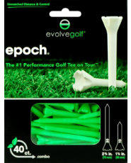 "Evolve Golf Epoch Combo Pack 1 1/2"" & 2 3/4"" Green Golf Tees - 40 Count"