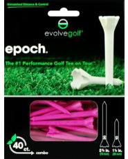 "Evolve Golf Epoch Pink 2 3/4"" Golf Tees - 40 Count"