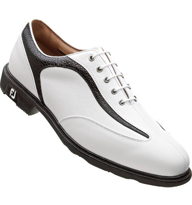 FootJoy Men's ICON Golf Shoe - White Smooth/Black Stingray