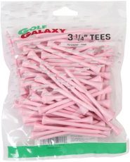 "Golf Galaxy 3 1/4"" Pink Golf Tees - 75 Pack"