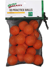 Golf Galaxy Orange Practice Golf Balls - 18 pack
