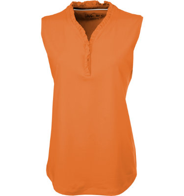 Lady Hagen Women's Sole Ruffle Sleeveless Polo