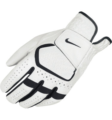 Nike Men's 2-Pack Dura Feel VI Golf Glove - White/Black
