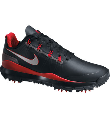 Nike Men's TW 14 Golf Shoe - Black/Red