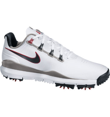 Nike Men's TW 14 Golf Shoe - White/Metallic Gray/Red